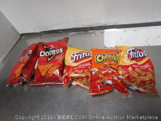 Frito Lays, Cheetos, Doritos