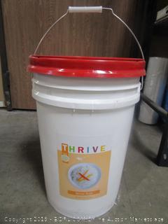Thrive 42lbs Bucket of White Rice (prepper/emergency food)