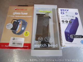 Shield Glass Luxe, Watch Band, Portable Charger