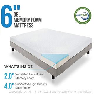 Lucid gel memory foam mattress 6 inch Queen