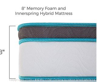 Linenspa 8 inch spring and memory foam hybrid mattress - TWIN