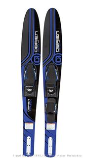"O'Brien Vortex Widebody Combo Water Skis 65.5"", Blue"