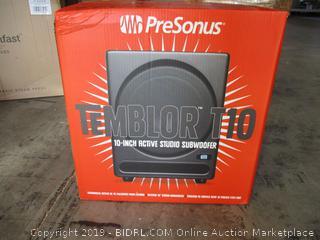 PreSonus Temblor T10 Powered Studio Subwoofer ($399 Retail, Factory Sealed, Box Damaged)