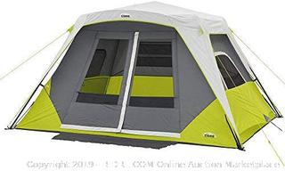 CORE 6 Person Instant Cabin Tent with Awning (online $169)