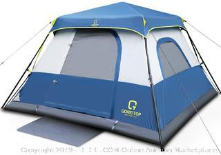 Qomotop instant cabin tent 6 person outdoor (online $144)