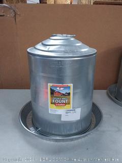 Miller 9835 5-Gallon Galvanized Poultry Fountain (online $37)