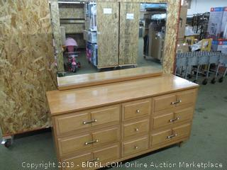 9 Drawer Dresser with Mirror (Used)