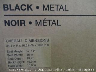 Black Metal Chair