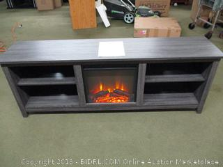 "Tv Stand with Electric Heater Fire Place 70"" Length"