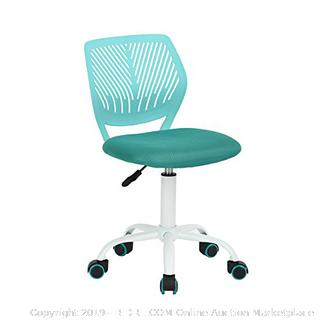 Turquoise Office Task Adjustable Desk Chair Mid Back (online $119)
