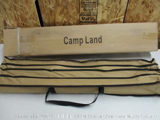 CampLand Aluminum Height Adjustable Folding Table Camping Outdoor Lightweight