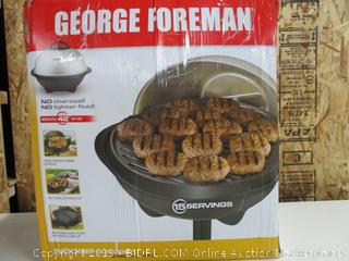 George Foreman 15-Serving Indoor/Outdoor Electric Grill GGR50B (Powers On, Stand Broken)