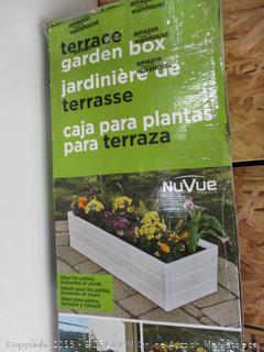 """Nuvue Products Patio Garden Box 16"""" Wide x 44.5"""" Long x 11.5"""" High - White"""
