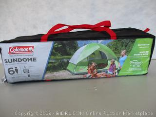 Coleman Dome Tent for Camping  Sundome Tent 6 Person