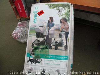 Evenflo Pivot Modular Travel System, Stroller, Car Seat, and Base (Retail $250)