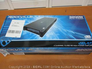 Rockville 3200w Peak / 800w RMS 4 Channel Car Amplifier, (Retail $145)