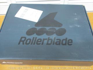 Rollerblade Zetrablade Women's Adult Fitness Inline Skate, Black/Light Blue, US Women's 9 (Retail $100)