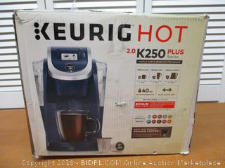 Keurig K250 Coffee Maker, Single Serve K-Cup Pod Coffee Brewer, With Strength Control, (See Pictures) (Retail $130)