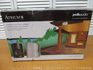 Polk Audio Atrium 6 Outdoor Speakers with Bass Reflex Enclosure All-Weather Durability Broad Sound Coverage (Retail $400)