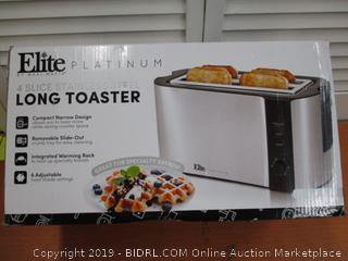 Elite Platinum ECT-3100 Stainless Steel Long Slot Toaster, 4 Slice