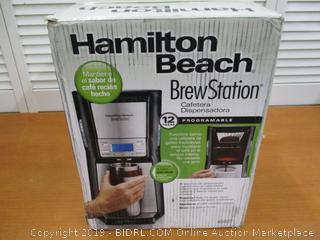 Hamilton Beach Coffee Maker with 12 Cup Capacity & Internal Storage Coffee Pot, Brewstation