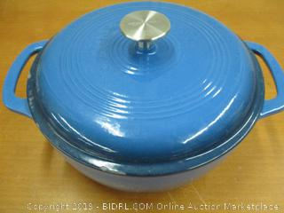 Enameled Cast Iron Covered Dutch Oven, 4.3-Quart, Blue