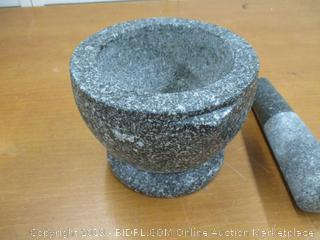 DDPremium MMTP72V Kruk Thai Stone (Granite) Mortar and Pestle, 2+ cup capacity, 7 inch,