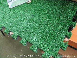 Sorbus Grass Mat Interlocking Grass Tiles (Retail $45)
