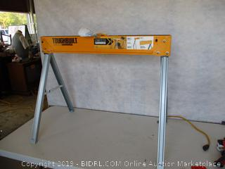 ToughBuilt Folding Sawhorse/Jobsite Table 100% High Grade Steel, 1100lb Capacity, Easy Carry Handle (TB-C300)