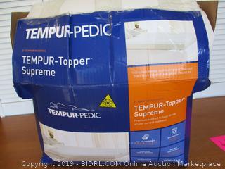 Tempur-Pedic TEMPUR-ProForm Supreme 3-Inch King Mattress Topper, Washable Cover (Retail $350)