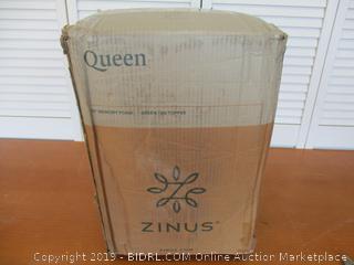 Zinus 1.5 Inch Green Tea Memory Foam Mattress Topper, Queen (See Pictures)