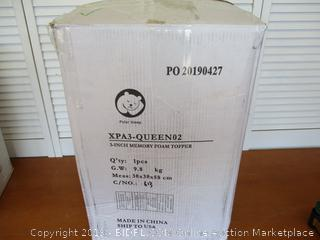 Milemont Mattress Topper Queen, Memory Foam Mattress Topper for Queen Size Bed, 3 Inch