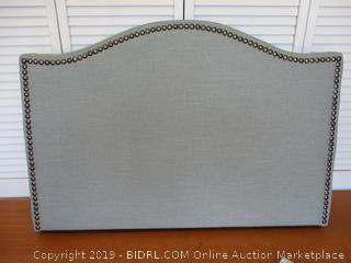Modway Curl Linen Fabric Upholstered Twin Headboard with Nailhead Trim and Curved Shape in Gray (Retail $115)