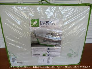 Tri-Fold Folding Mattress w/Storage & Carry Case, Ultra Soft Removable Washable Cover, [75 x 31 x 4 inch] (Retail $100)