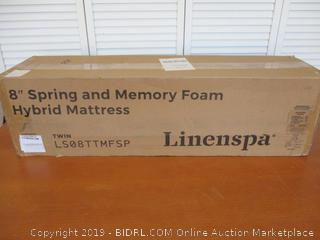 Linenspa 8 Inch Memory Foam and Innerspring Hybrid Mattress Twin