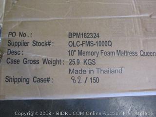 """10"""" Memory Foam Mattress Size Queen"""
