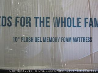 "10"" Plush Gel Memory Foam Mattess"