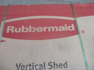 Rubbermaid vertical shed - box damage, possibly incomplete