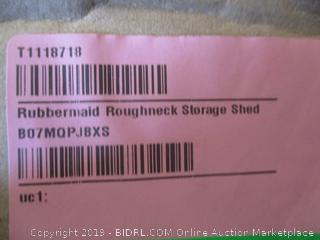 Rubbermaid roughneck storage shed - box damage