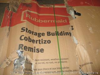 Rubbermaid storage building - box damage, possibly incomplete