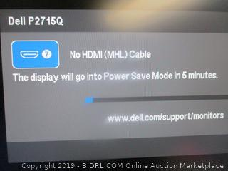 Dell P12715Q monitor - powers on