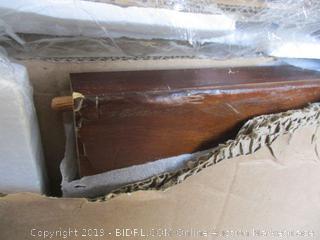 Zinus 12 Inch Rustic Solid Wood Platform Bed, Queen