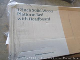 Zinus 12 Inch Solid Wood Platform Bed, Queen