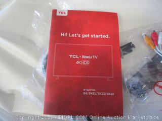 """TCL Roku TV 4K HDR Smart TV 55"""" Tested Powers On See Pictures"""