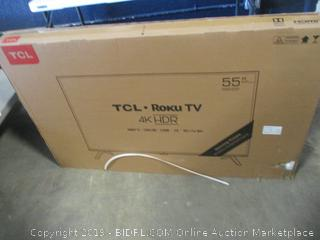 """TCL Roku 4K HDR TV 55"""" Smart TV tested Powers On See Pictures"""