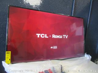 "TCL Roku 4K HDR TV 55"" Smart TV - damaged box-New Tested Powers On See Pictures"