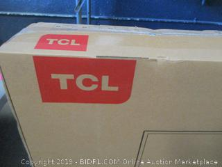 "TCL Roku 4K HDR TV 55"" Smart damaged CRACKED SCREEN, Powers on See Pictures"