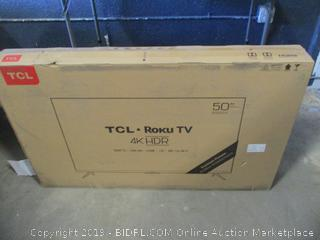 """TCL Roku 4K HDR TV 50"""" Smart TV Powers On, Tested, New See Pictures"""