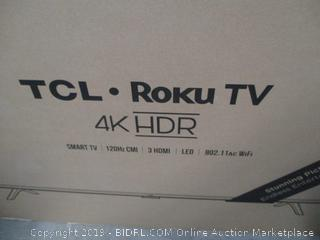 """TCL Roku 4K HDR TV 50"""" Smart TV  New, Powers On, tested See Pictures"""