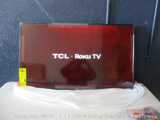 "TCL Roku TV Smart TV FHD 40"" damaged box, Damaged, Powers on, tested See Pictures"